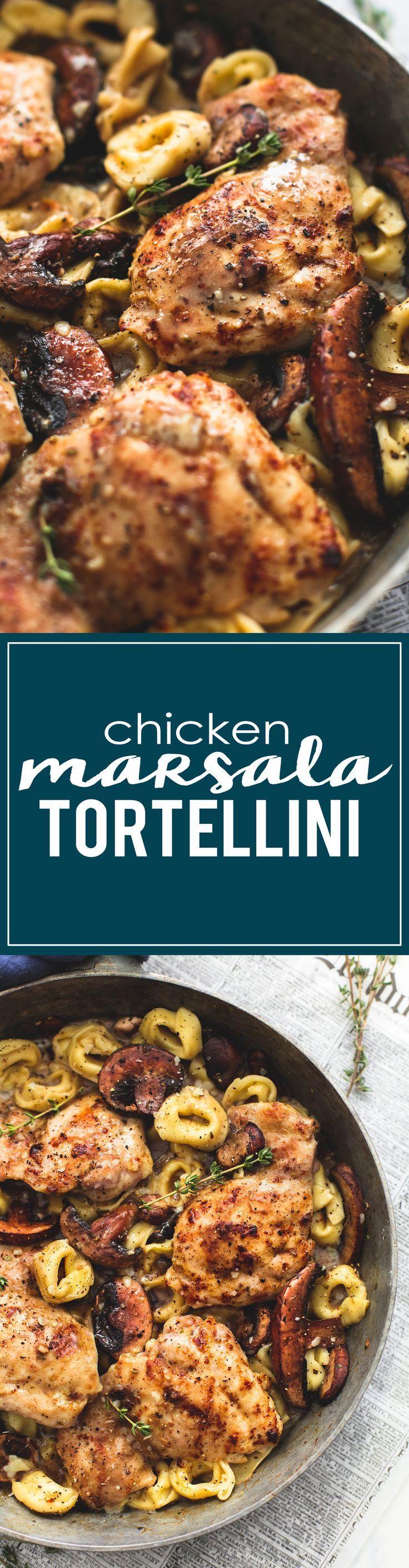 Chicken Marsala Tortellini | http://lecremedelacrumb.com