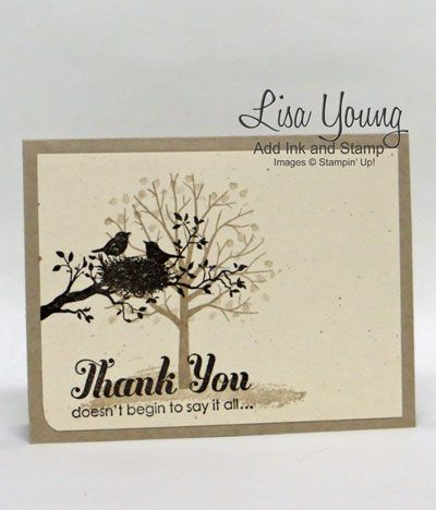 Stampin' UP! Sheltering Tree stamp set and World of Dreams stamp set. Stamped on Naturals Ivory card stock. Clean and Simple card.