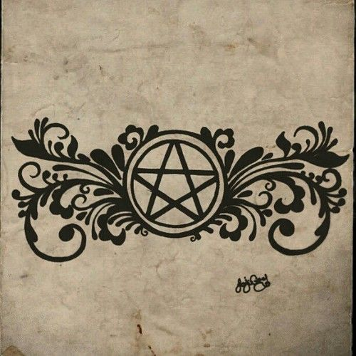 Pagan Pentacle Tattoo by *gutterface on deviantART  Maybe with a heartagram instead of the pentacle. Hmm..