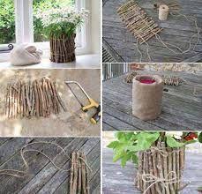Image result for timber diy vases