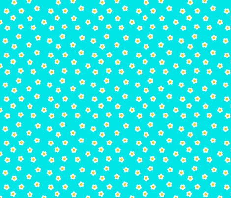 Turquoise Daisies fabric by shelleymade on Spoonflower - custom fabric