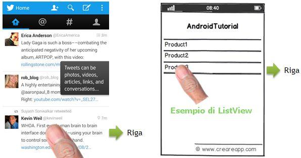 ListView per creare Liste di Dati in Android