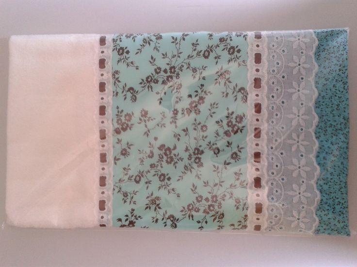 Toalha de Rosto <br>Diversas cores e tipos de barrado <br>100% algodão.