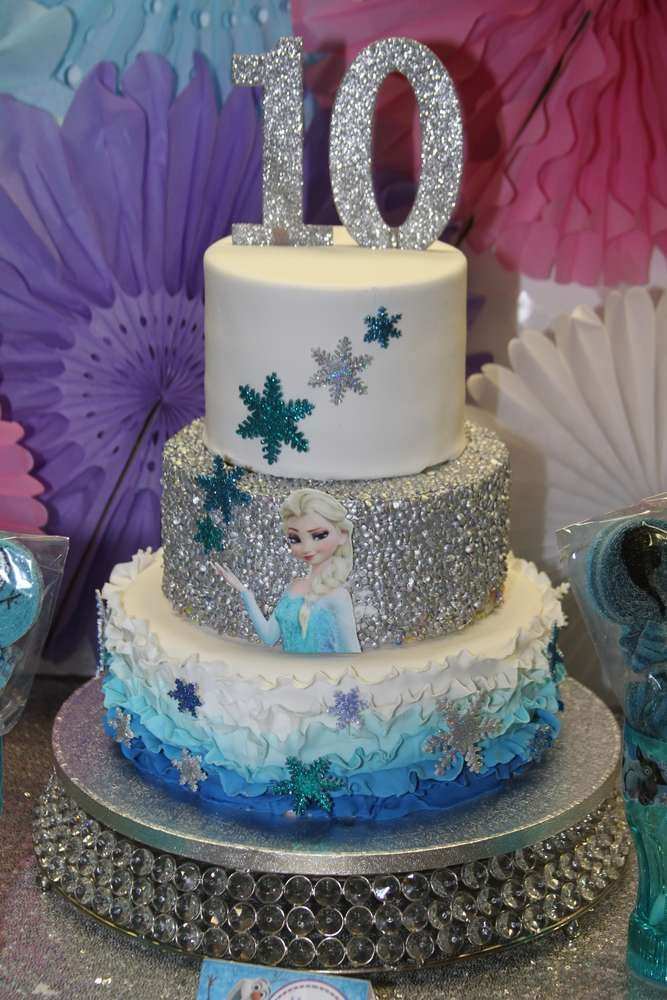 Frozen Disney Birthday Party Ideas Photo 3 Of 15