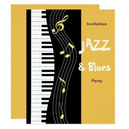 Jazz And Blues Themed Birthday Party Invitation Classy Gifts
