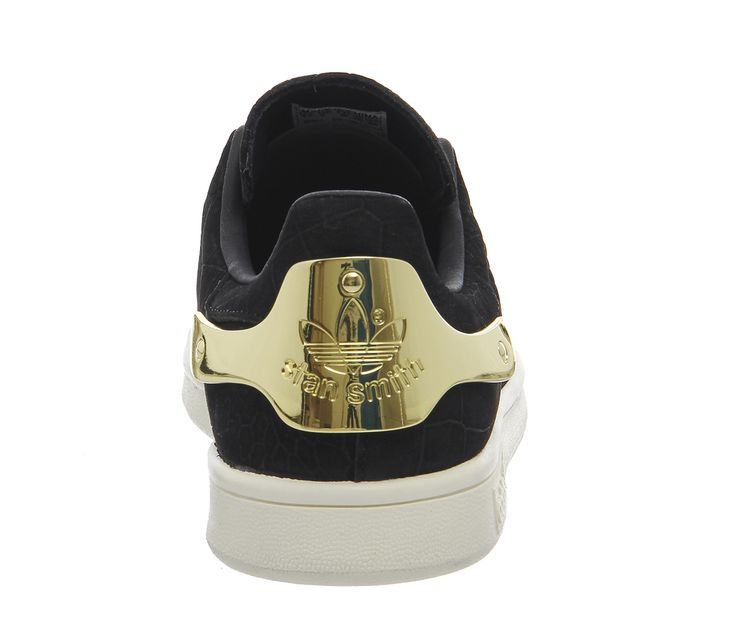 Adidas Stan Smith Metal Black Gold - Hers trainers
