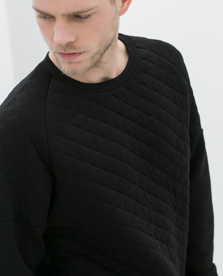 Black Quilted Sweatshirt from Zalora