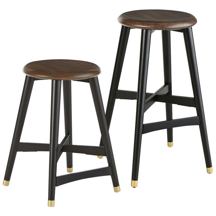 Lovely Black Kitchen Counter Stools