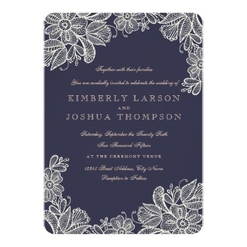 17 Best ideas about Lace Wedding Invitations on Pinterest | Rustic ...