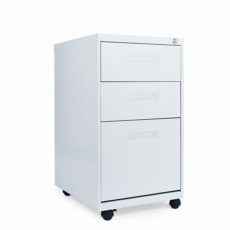 Alera Mobile Pedestal File Cabinet with Visible Casters-3 Drawers Light Gray - ALEPABBFLG