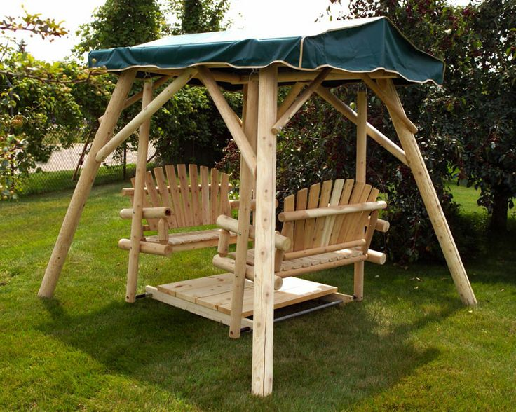 Canopy glider swing plans woodworking projects plans for Log porch swing plans