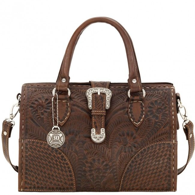 Hard Sided Doctor S American West Leather Handbag With Detachable Shoulder Strap