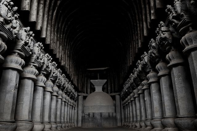Karla Cave Temples: { 10 kms. from Lonavala. 56 kms. from Pune} . #KarlaCaveTemples