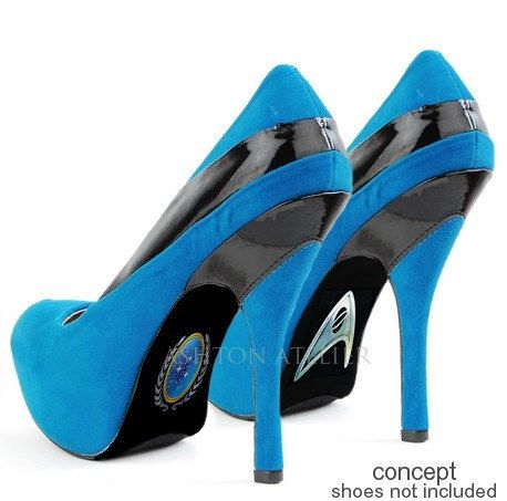 These hand painted Star Trek heels | 17 Pairs Of Geeky Heels Every Fangirl Should Own