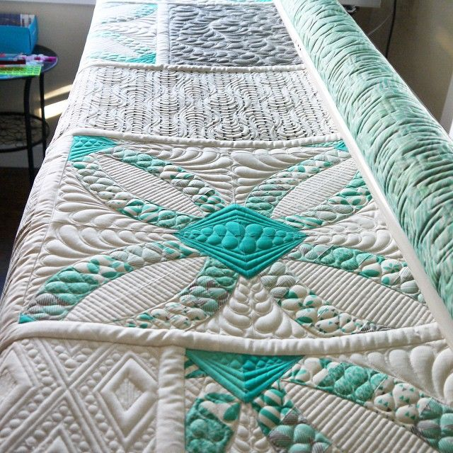 So much patience! I love the dense quilting, but I don't know if I could ever get that detailed - absolutely gorgeous!