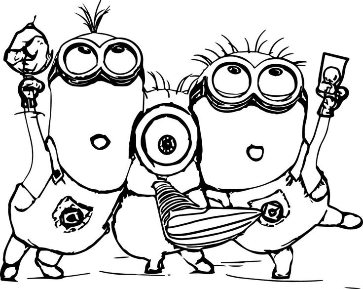 100 best coloring pages images on Pinterest Children coloring - new minions coloring pages images