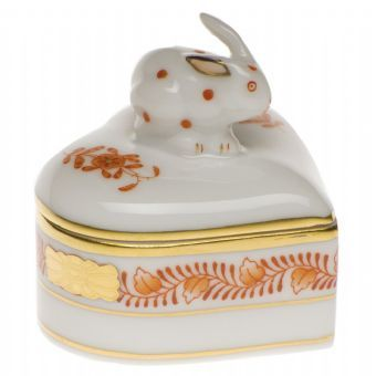 Herend Heart Box with Bunny http://www.continentaltablesettings.com