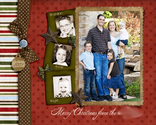 "Fabulous ""Merry Christmas"" Scrapbooking Layout...Crafting Chicks."