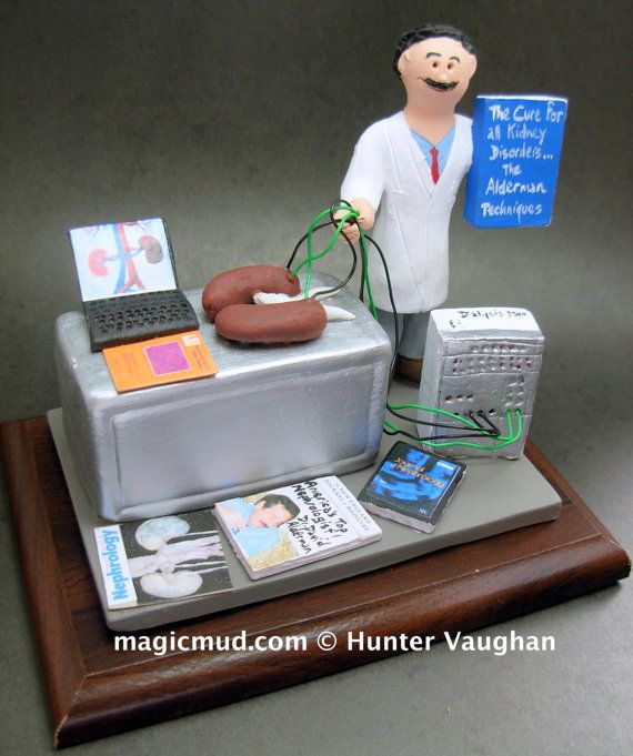 Nephrologist's Figurine,  www.magicmud.com    1 800 231 9814    magicmud@magicmud.com $225  Personalized #Medical Gift Figurines, custom created just for you!    Perfect present for all #Doctors, a  heartfelt gift for birthdays, graduations, anniversaries, new office openings, retirement, as a thank you to a great #physician  Surgeon, cardiologist, therapist, nurse, ob-gyno, podiatrist, psychiatrist, nephrologist, urologist, radiologist, any occupation made to to order by #magicmud