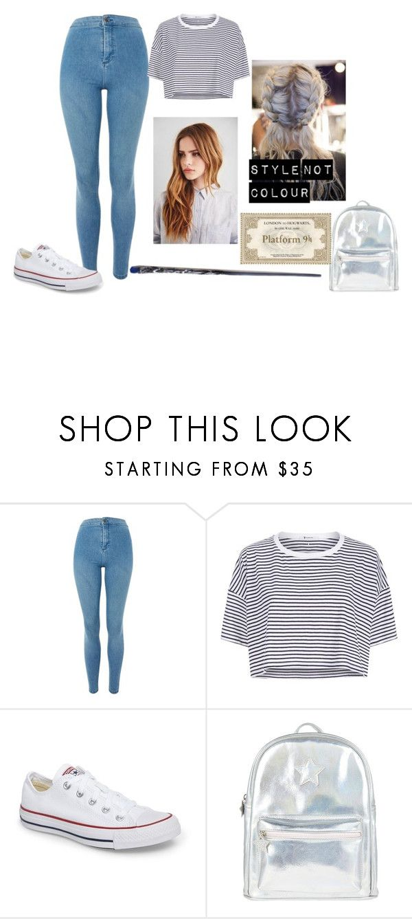 """""""Dominique Weasley Hogwarts express"""" by pip-bella ❤ liked on Polyvore featuring Topshop, T By Alexander Wang, Converse, Accessorize and Giles"""