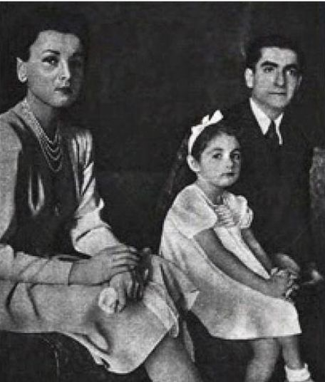 Queen Fawzia of Iran with her Daughter, Shahnaz Pahlavi                                                                                                                                                                                 More