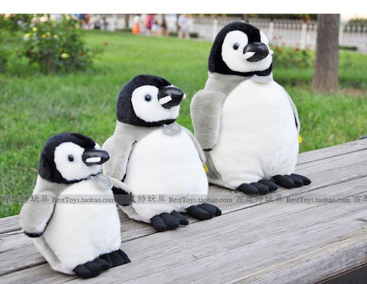 О 33 см пингвин плюш игрушка моделирование пингвин, День рождения подарок w3495