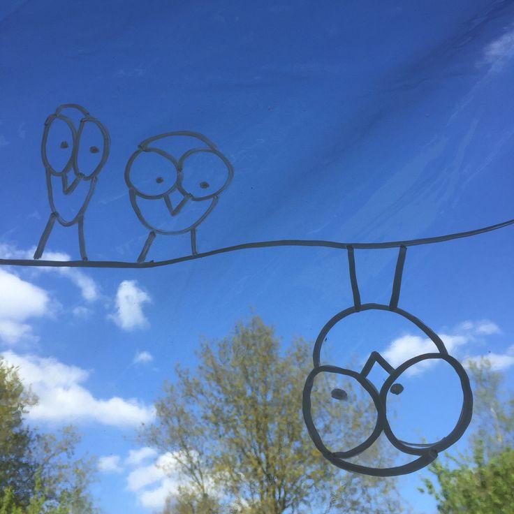 Birds on a wire ( the weird version) #doodles #doodling #raamtekening…