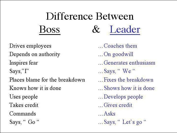 Good Boss versus Bad Boss