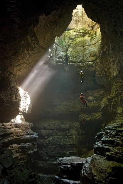 Just off a quiet country road sits a secret cave with a rushing waterfall that few know exists. Don't worry, there's a backdoor that doesn't involve rope!