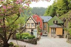 Schmilka mit Mühle, Malerweg Etappe 5 Sächsische Schweiz, Saxon Switzerland