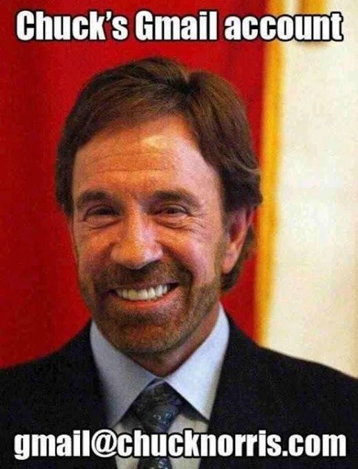 chuck norris gmail account