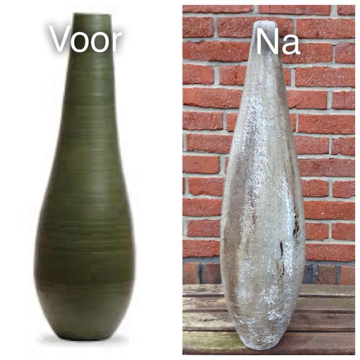 vaas gepimpt met muurvuller van de action en op kleur