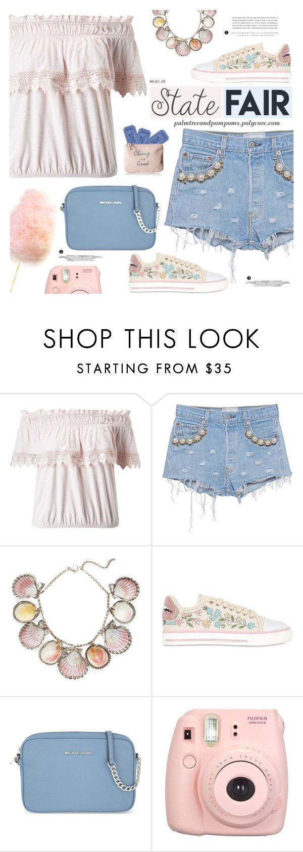 """""""Summer Date: The State Fair"""" by palmtreesandpompoms ❤ liked on Polyvore featuring Miss Selfridge, Forte Couture, Paolo Costagli, RED Valentino, MICHAEL Michael Kors, Kerr®, Lulu Guinness, MissSelfridge, statefair and summerdate"""