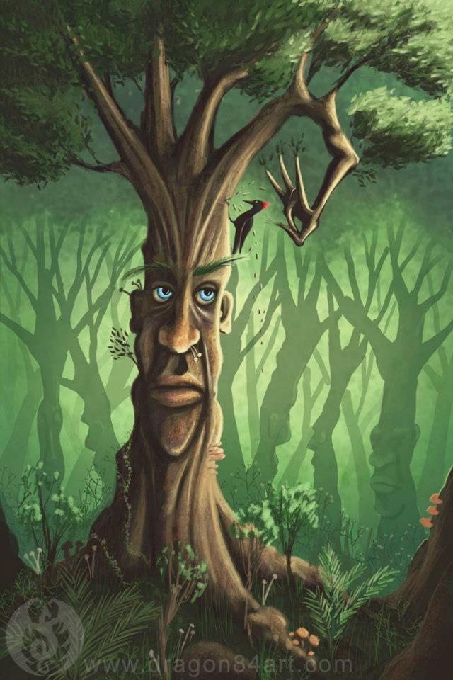 Talking Trees Fantasy Tree Enchanted Tree Painting