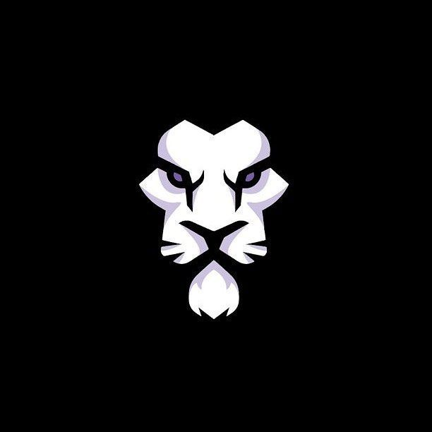 When it comes to design, simple is always better. This lion head is just amazing with the use of black negative space as the mane. Talk about intimidating!