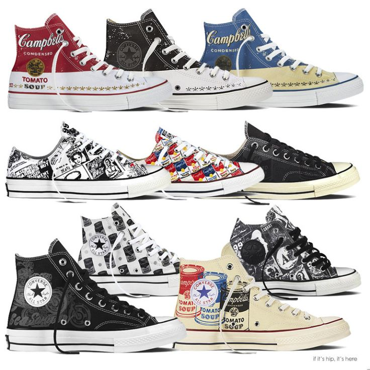 The Andy Warhol Collection of Converses. Like I need more shoes...hell yeah I need these; just bought a pair!