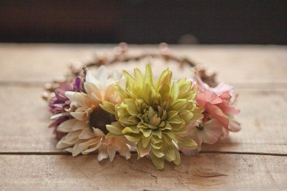 The Dahlia Floral Crown  Floral crown Flower by BriarRoseStudio