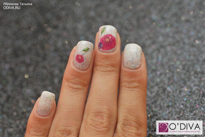 Слайдер дизайн/водные наклейки (цветы М84) http://odiva.ru/~khVry #водныенаклейки #наклейкидляногтей #слайдердизайн #наклейкинаногти #дизайнногтей #ногти #идеиманикюра #маникюр