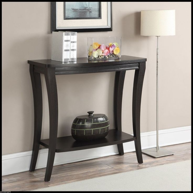 Foyer Table Display : Details about modern accent console table hallway shelf