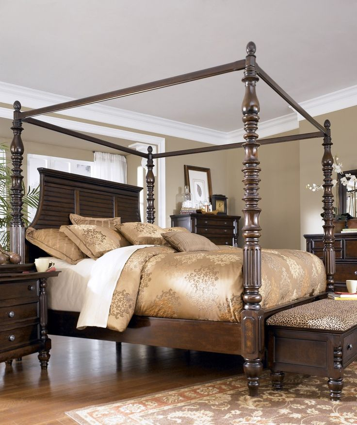mm furniture key town queen poster bed with canopy