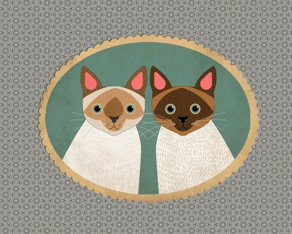 Custom pet portrait, Custom pet illustration. Whimsical pet portraits. Pet couple portrait. Portrait from photo