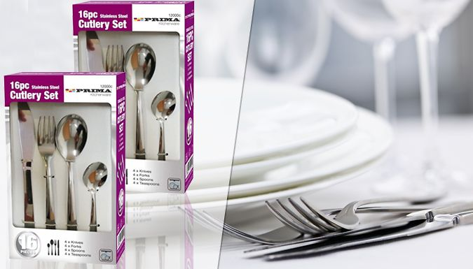 Buy 32-Piece Stainless Steel Cutlery Set UK deal for just: £6.99 Keep kitchen drawers fully stocked with this 32-Piece Stainless Steel Cutlery Set      Set includes:                8 x knives          8 x forks          8 x spoons          8 x teaspoons                  Crafted from stainless steel      Dishwasher safe and easy to clean      Makes a handy gift for students or those moving...