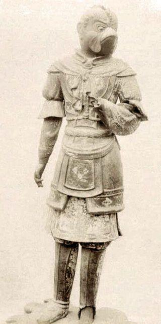 Wingless statue of Garuda or Karura in Kofukuji Temple, Nara, Japan, 8th century