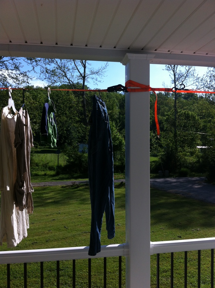 Delightful Temporary Clothes Line. Broken Dryer Or Donu0027t Have An Outdoor Clothes Line?