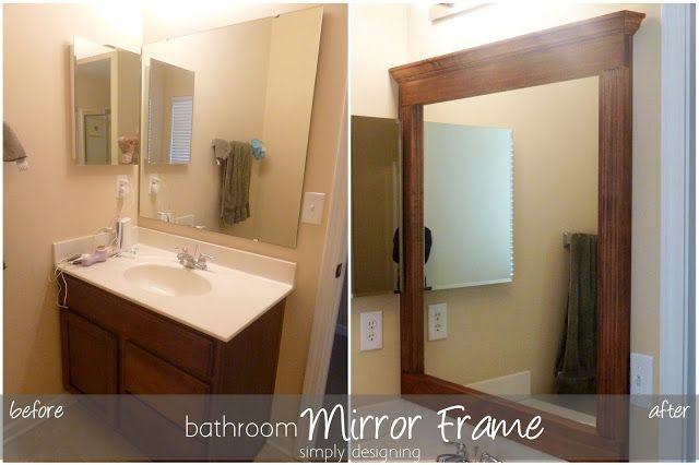 How to build a bathroom Mirror Frame #kregjig #diy #bathroom