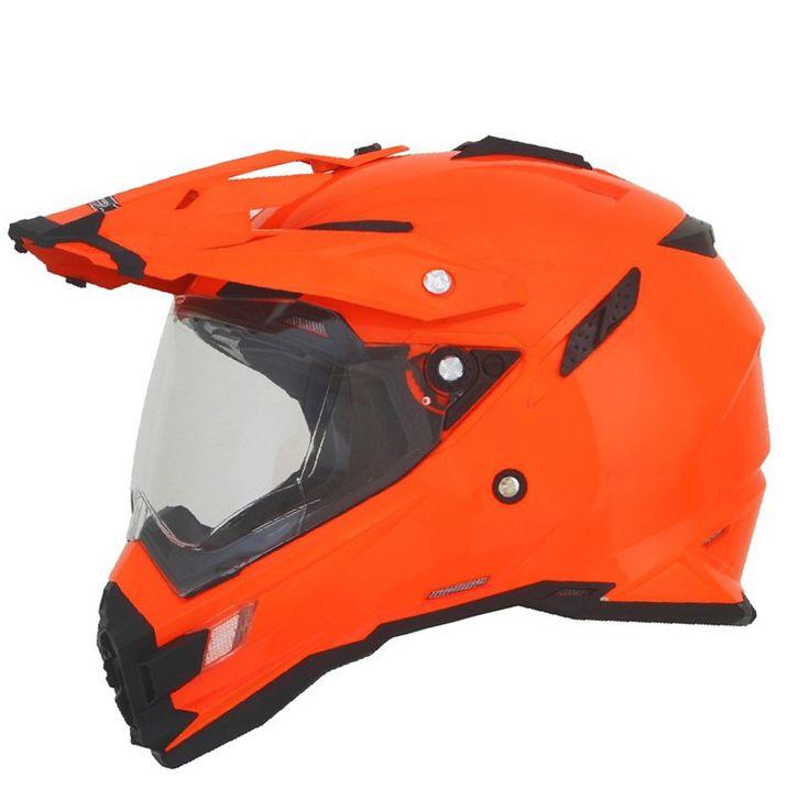 AFX FX-41 Dual Sport Helmet in Hi-Vis Orange or Hi-Vis Yellow
