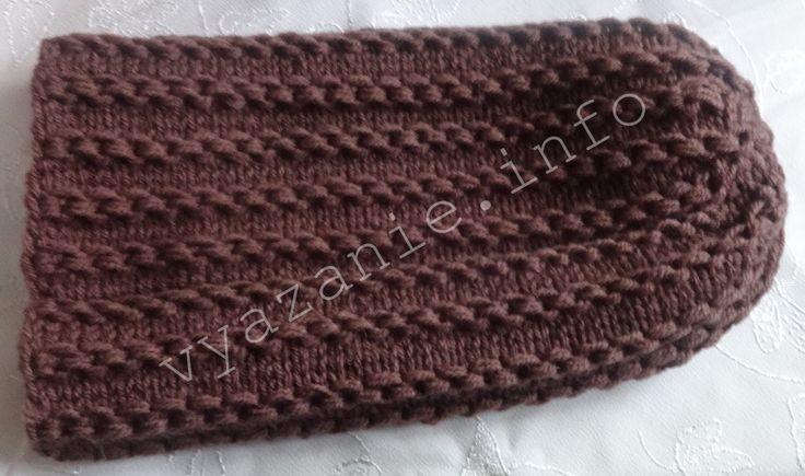 Шапка БИНИ спицами с описанием вязания, видео, фото ...