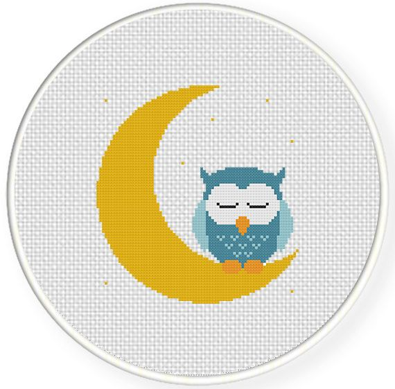 FREE for Aug 15th 2014 Only - Sweet Dreams Owl Cross Stitch Pattern