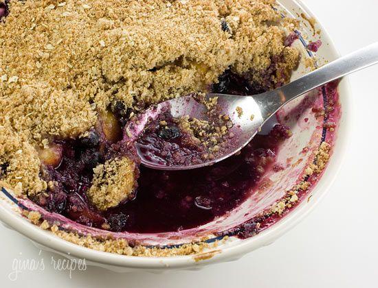 blueberry peach crisp...........: Weight Watchers, Peach Crisp Yum, Yummy Desserts, Sweets Recipes, Yummy Food, Peach Cobbler, Blueberries, Skinny Desserts