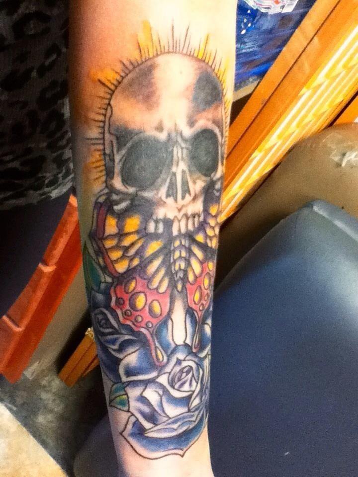 Skull and Roses tattoo | Olivia's tattoo art -River City Tattoo ...